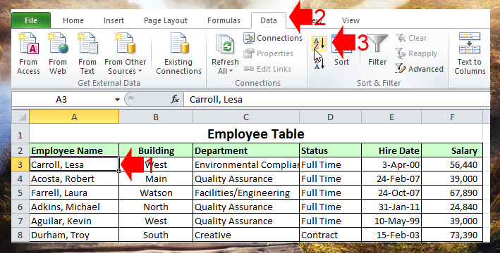 How To Use Sorting In Excel Office Tutorial